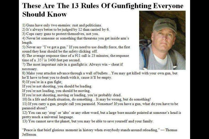 13 Rules Of Gunfighting