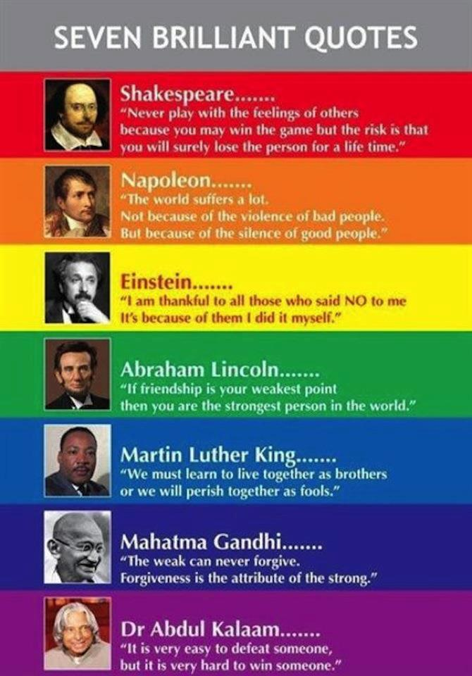 7 Brilliant Quotes
