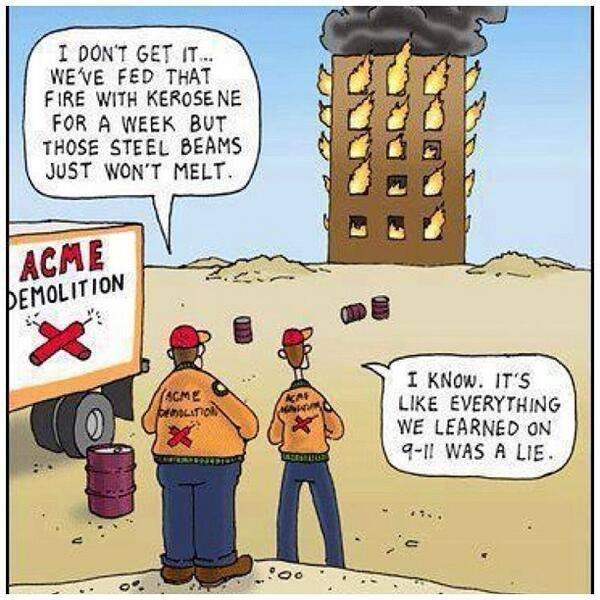 911 Lie - Steel Beams Do Not Melt
