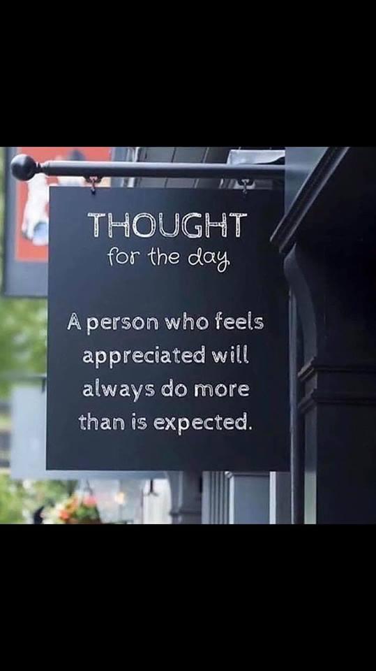 A Person Who Feels Appreciated