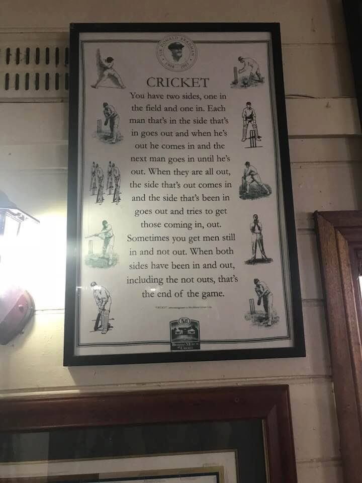 And That Is Cricket