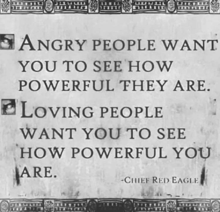 Angry Versus Loving People