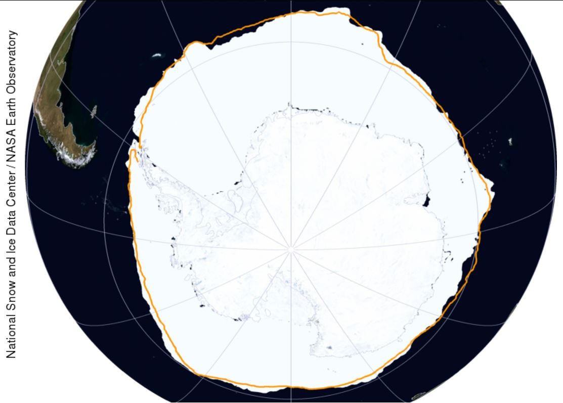 Antarctic Sea Ice Hits 35 Year High