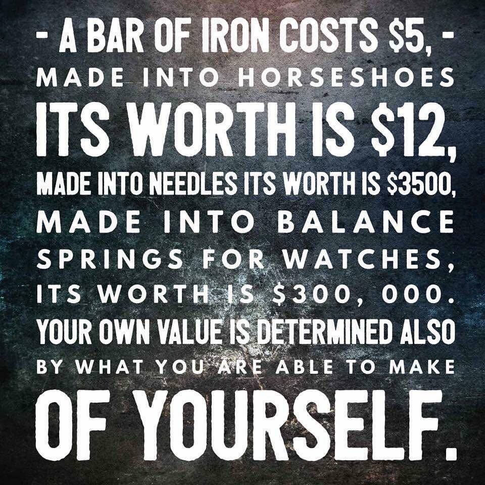 Be Worth More