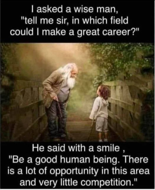 Be A Good Human Being