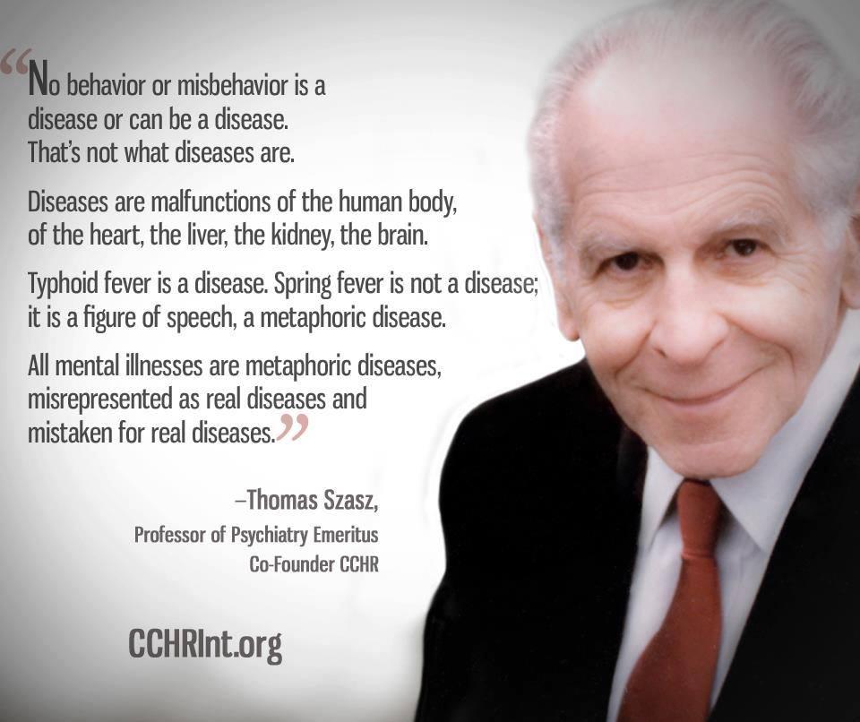Behaviour Is Not A Disease