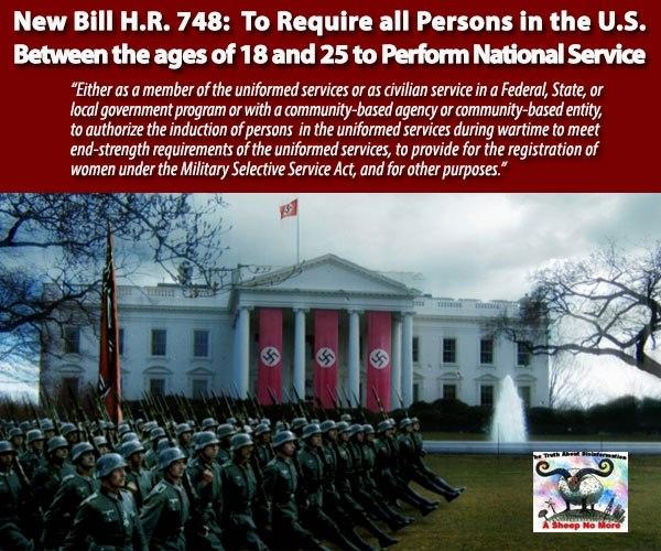 Bill HR748 National Service