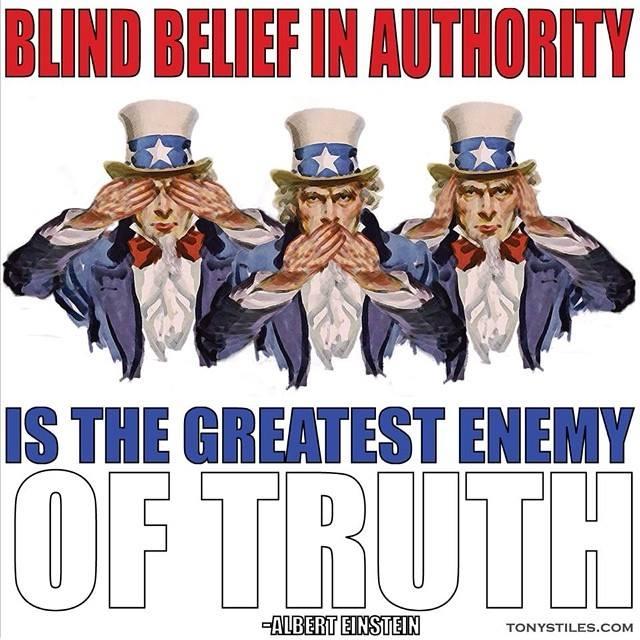 Blind Belief In Authority