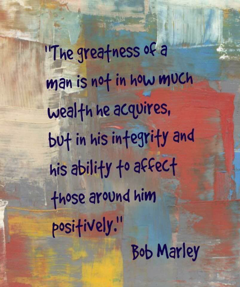 Bob Marley Quote Value Of A Man