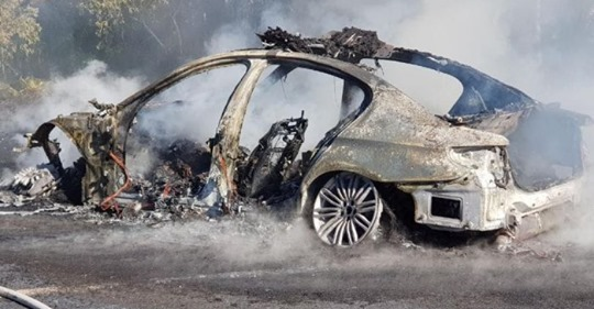 Burnt Out Pursuit Car