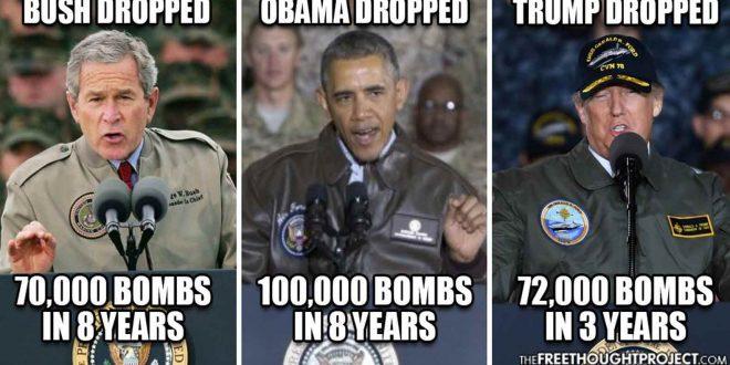 Bush Obama Trump Bombing