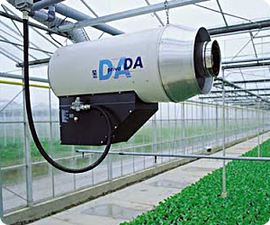 CO2 Burner in Greenhouse