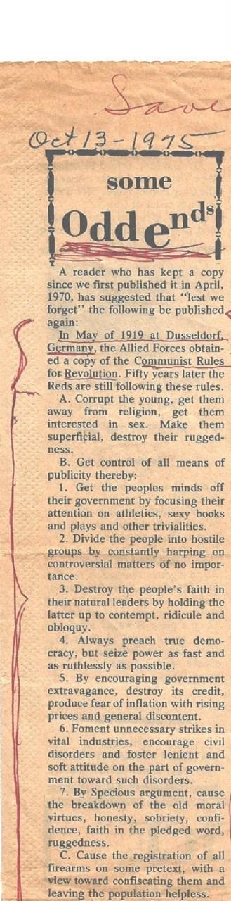 Communist Agenda