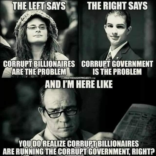 Corrupt Billionaires Are Running The Govt