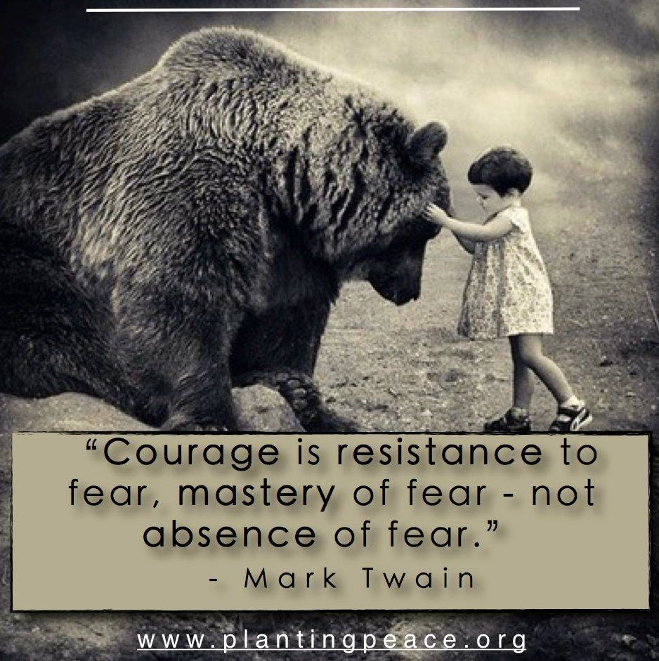 Courage Is Mastery Over Fear