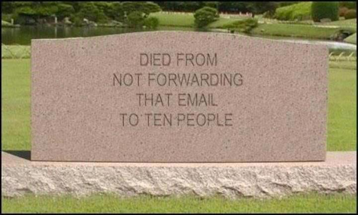 Died From Not Forwarding That Email