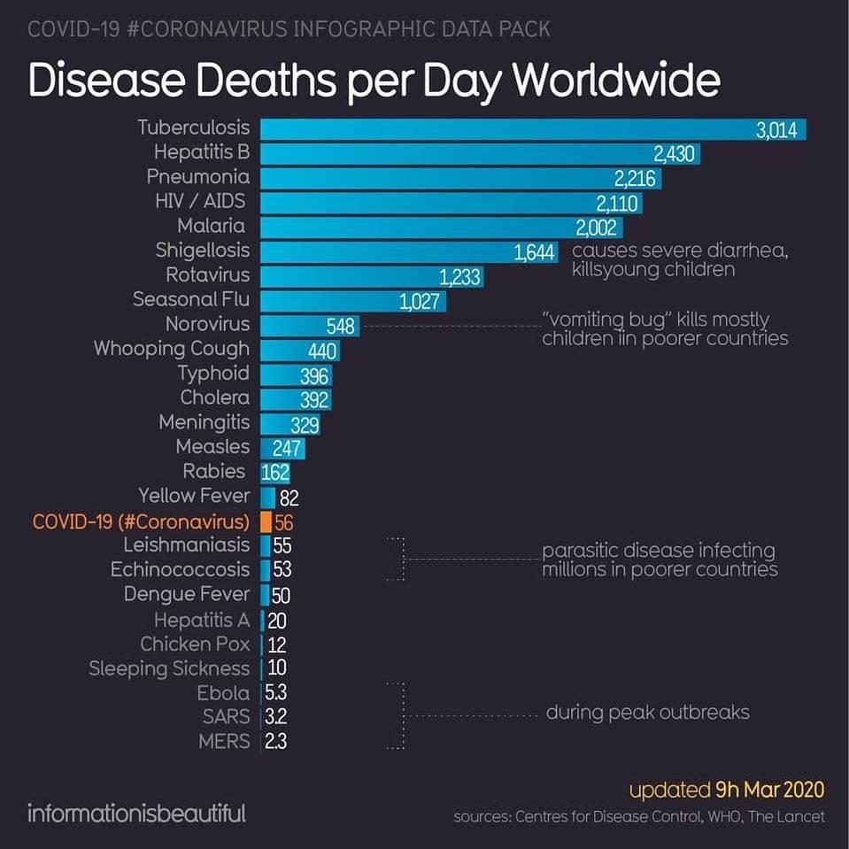 Disease Deaths Per Day