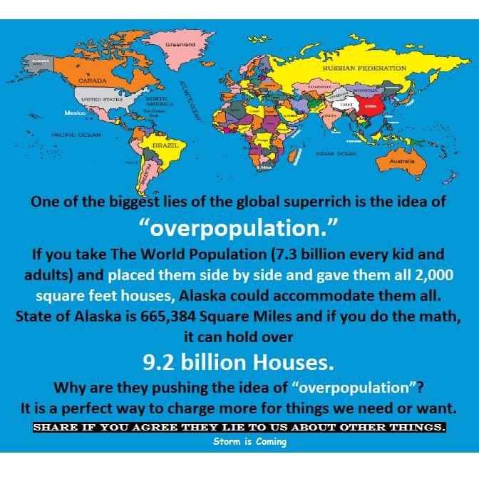 Dispel The Myth Of Over-Population