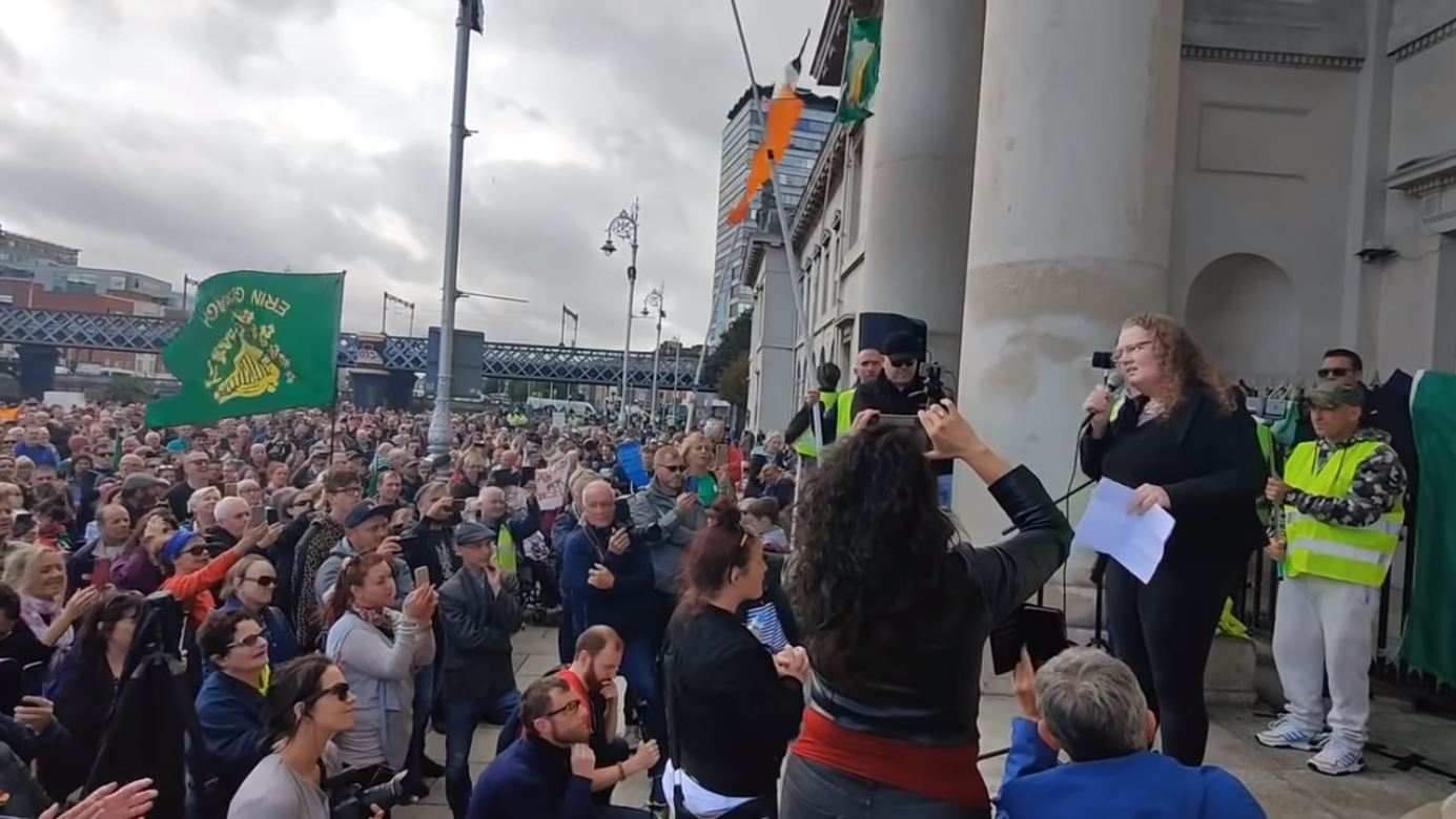 Dolores Cahill - Time For Change Protest Dublin