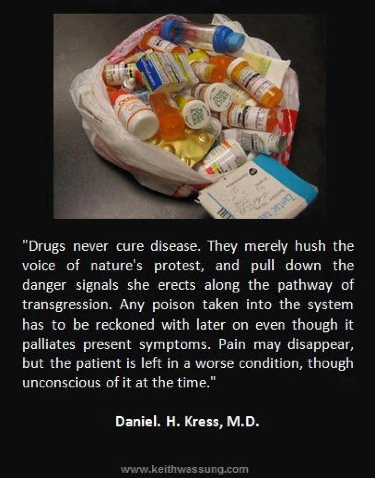 Drugs don't cure