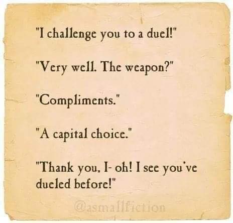 I Challenge You To A Duel