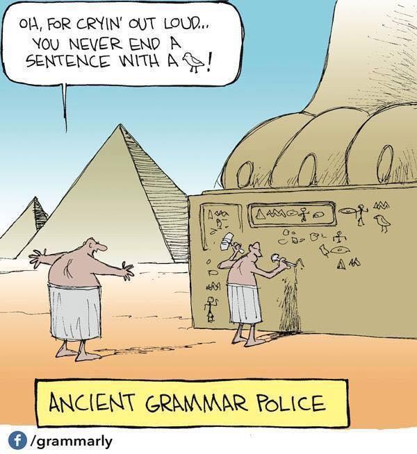 Egyptian Grammar Police