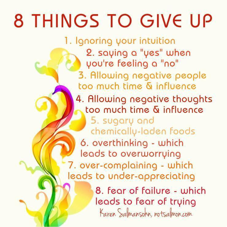 Eight Things To Give Up