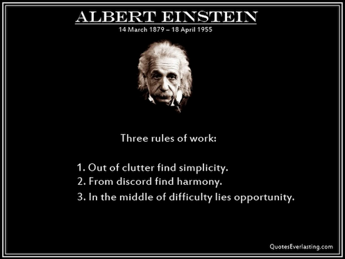Einstein 3 Rules Of Work