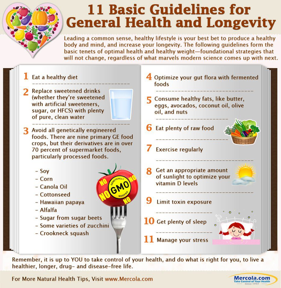 Eleven Basic Guidelines For General Health