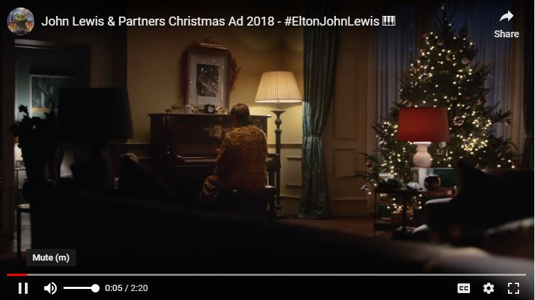 Elton John Christmas Ad