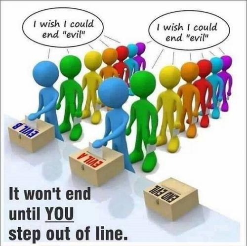 Step Out Of Line to End Evil