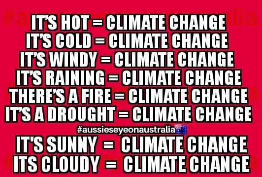 Everything Equals Climate Change