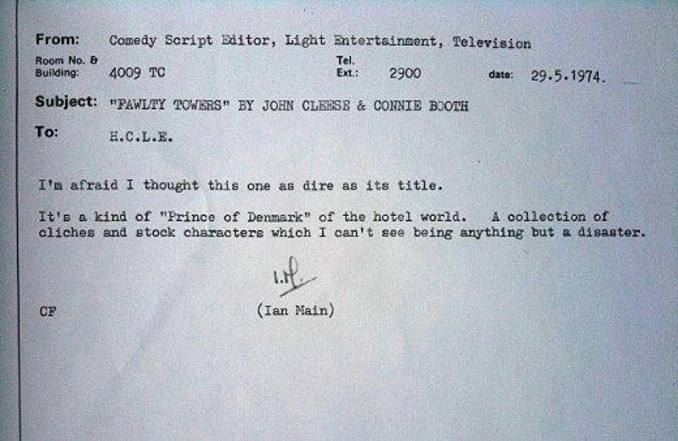 Fawlty Towers Rejection Slip
