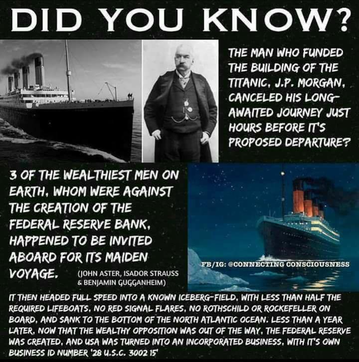 Federal Reserve Titanic Link