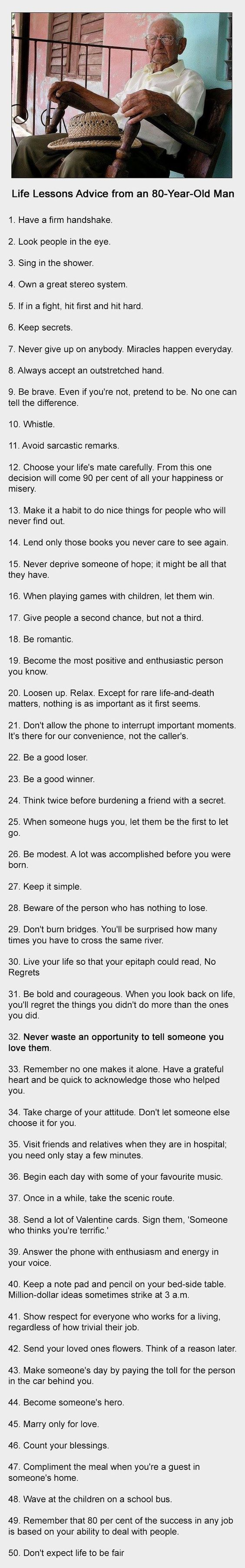 Fifty Life Lessons