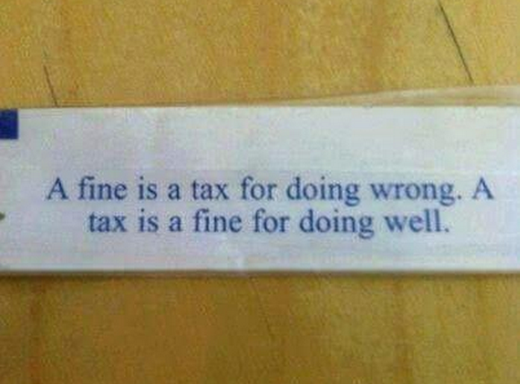 Fine And Tax