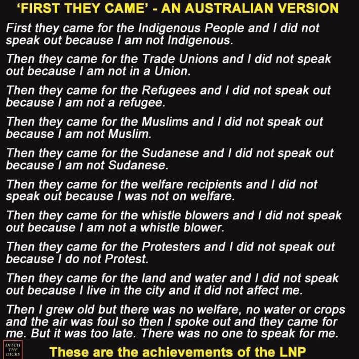 First They Came Aussie Version