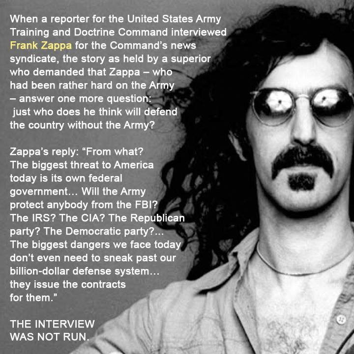 Frank Zappa On The Army