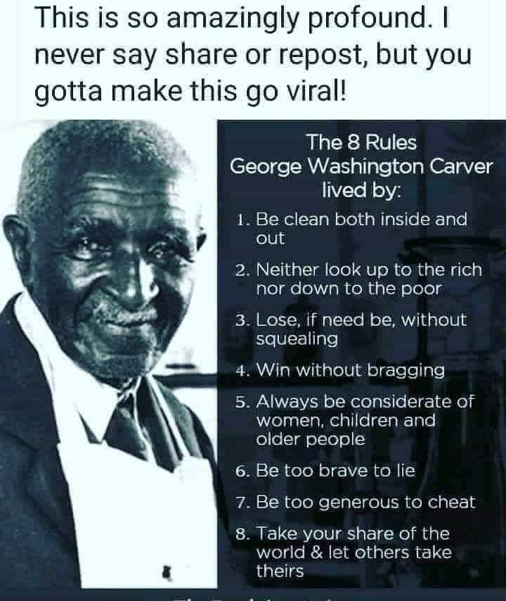 G W Carver Rules