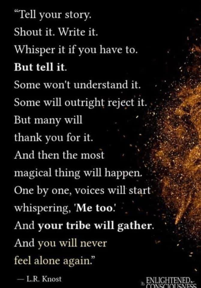 Speak Up and Gather Your Tribe