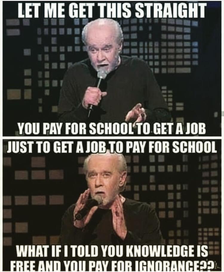George Carlin On College