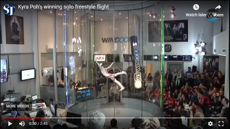 Gold Medal Freestyle Indoor Skydiving - Kyra Poh