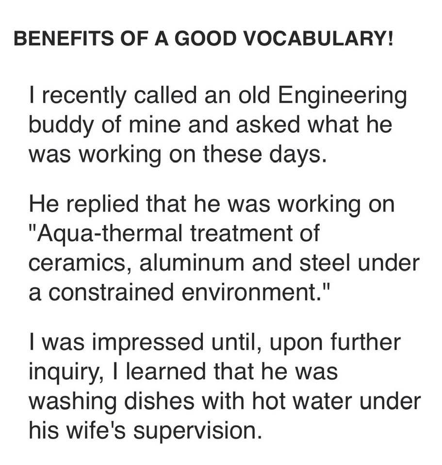 Benefit of a Good Vocabulary