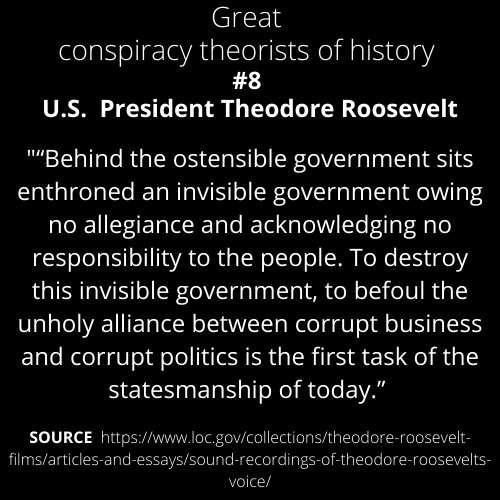 Great Conspiracy Theorists Number 8