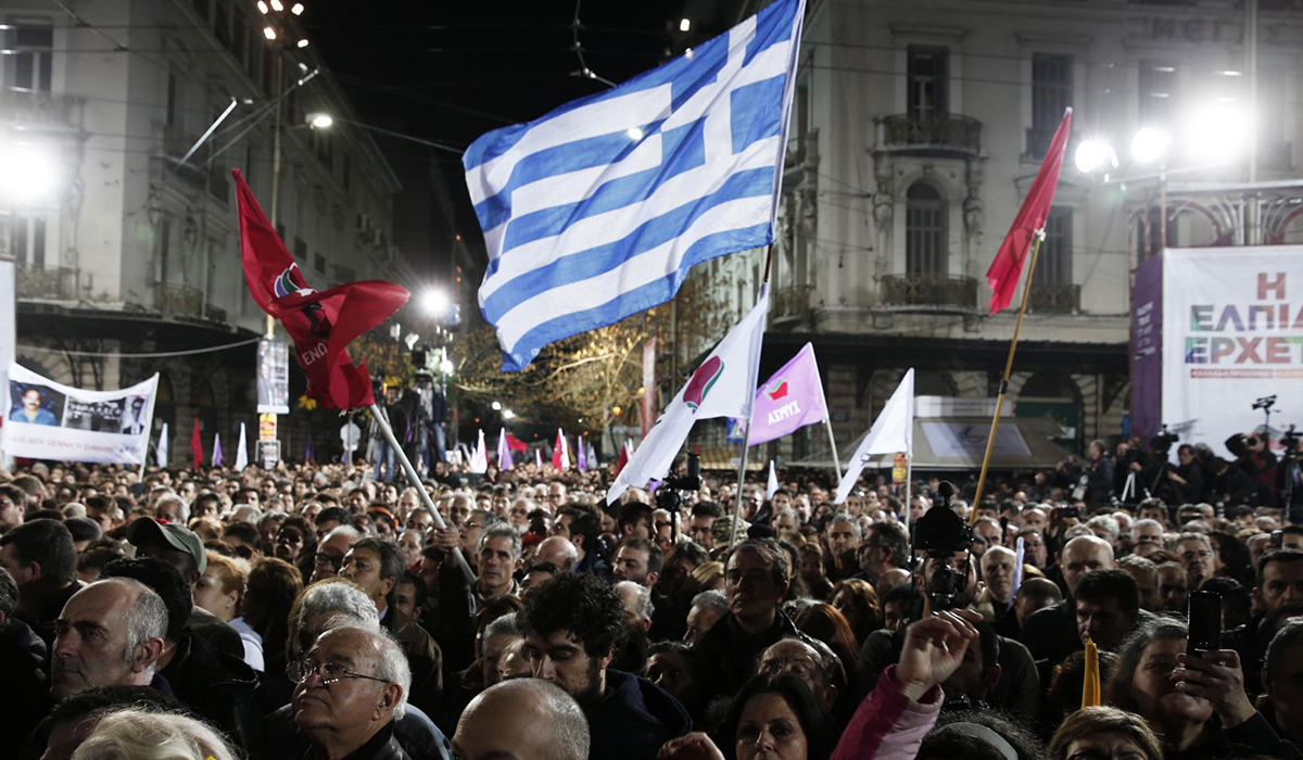 Greek Austerity Protest 2015