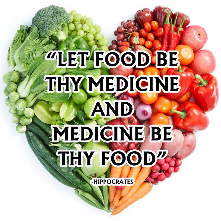 Let food be thy medicine and medicine be thy food. Hippocrates