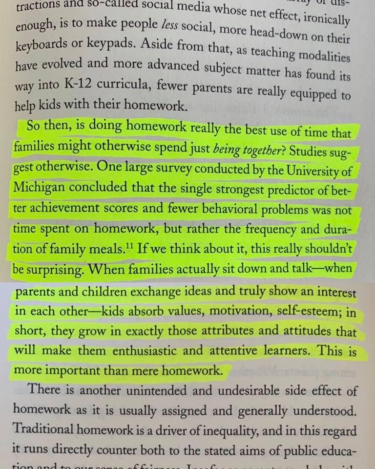 Homework Versus Family Meals
