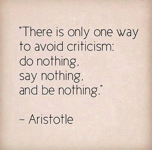 How To Avoid Criticism