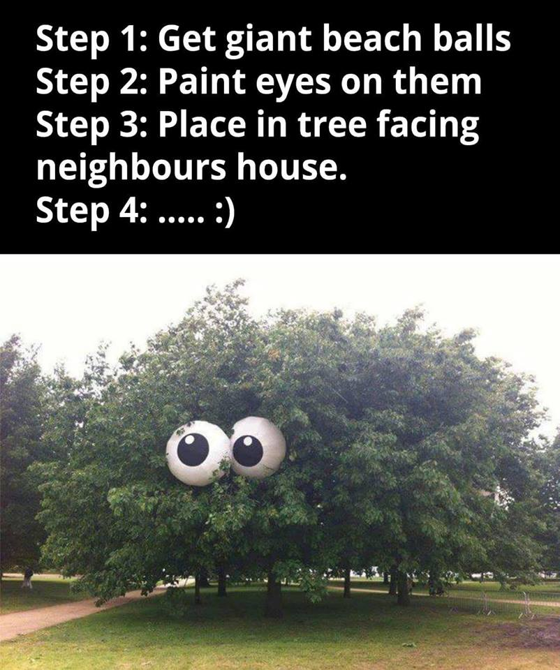 How To Peeve Your Neighbours