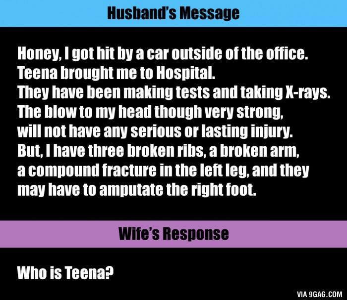 Husbands SMS